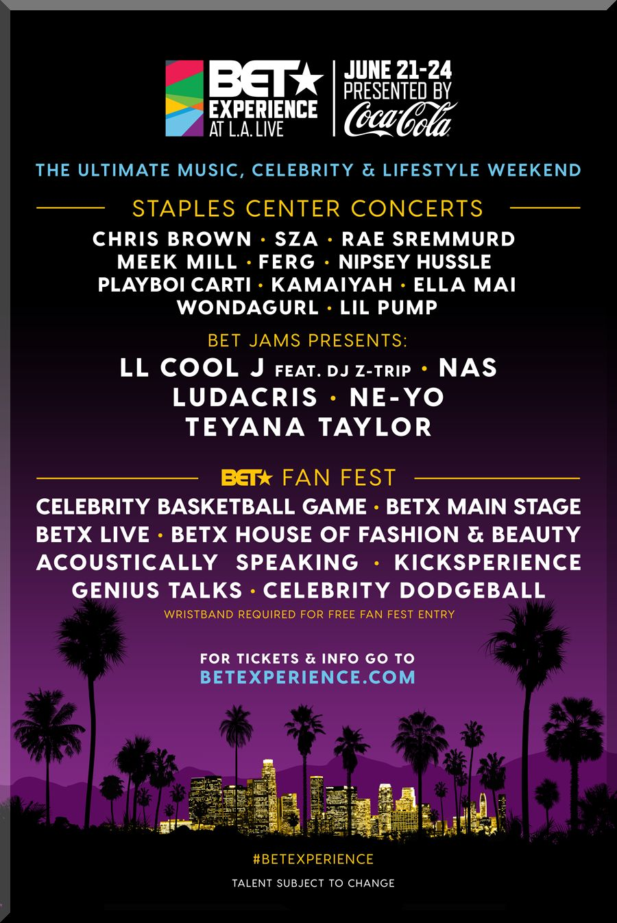 2018 BET AWARDS WEEKEND TICKETS JUNE 21-24 LA